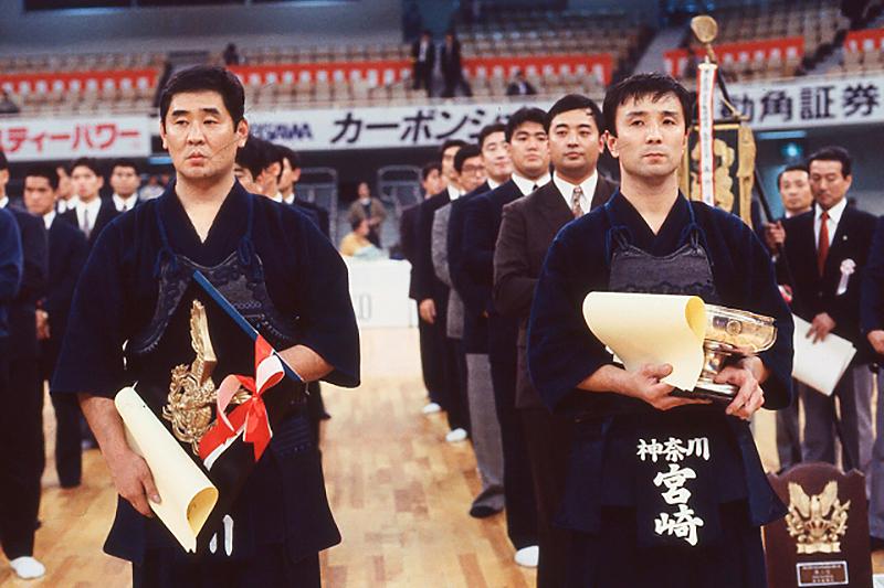1990年 全日本選手権大会表彰の様子