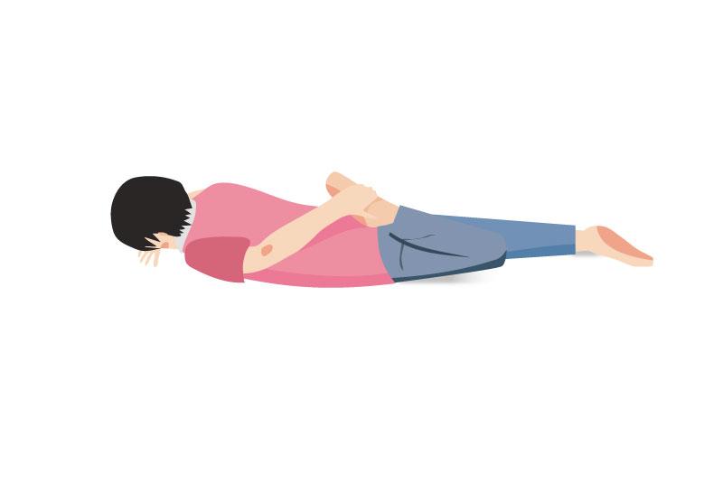 大腿四頭筋ストレッチ方法